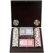 Trademark Poker 100 11.5g 4 Aces Poker Chip Set w/Beautiful Mahogany Case at Kmart.com