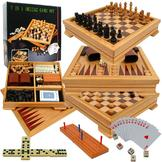 Trademark Games Deluxe 7-in-1 Game Set - Chess - Backgammon etc at mygofer.com