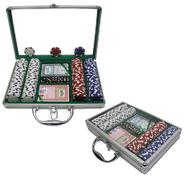 Trademark Poker 200 Dice Striped 11.5g Chips w/Clear Cover Aluminum Case at Kmart.com