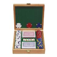 Trademark Poker 100 13 gm Pro Clay Casino Chips w/Beautiful Solid Oak Case at Kmart.com