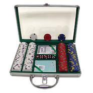 Trademark Poker 200 13 gm Pro Clay Casino Chips w/ Clear Cover Aluminum Case at Kmart.com