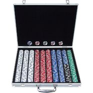 Trademark Poker 1000 11.5G Jackpot Casino Clay Poker Chips w/Aluminum Case at Kmart.com