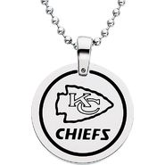 NFL Kansas City Chiefs Logo Circle Pendant with Chain at Sears.com