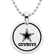 NFL Dallas Cowboys Logo Circle Pendant with Chain at Sears.com