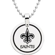 NFL New Orleans Saints Logo Circle Pendant with Chain at Sears.com