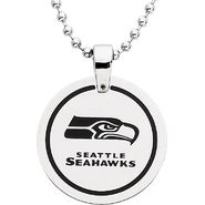 NFL Seattle Seahawks Logo Circle Pendant with Chain at Sears.com