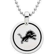 NFL Detroit Lions Logo Circle Pendant with Chain at Sears.com
