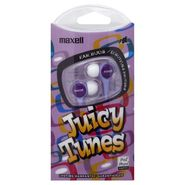 Maxell Juicy Tunes Ear Buds, Purple, 1 pair at Kmart.com