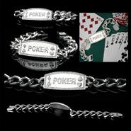 Trademark Poker Silver Link Non-Engraved Poker Bracelet at Kmart.com