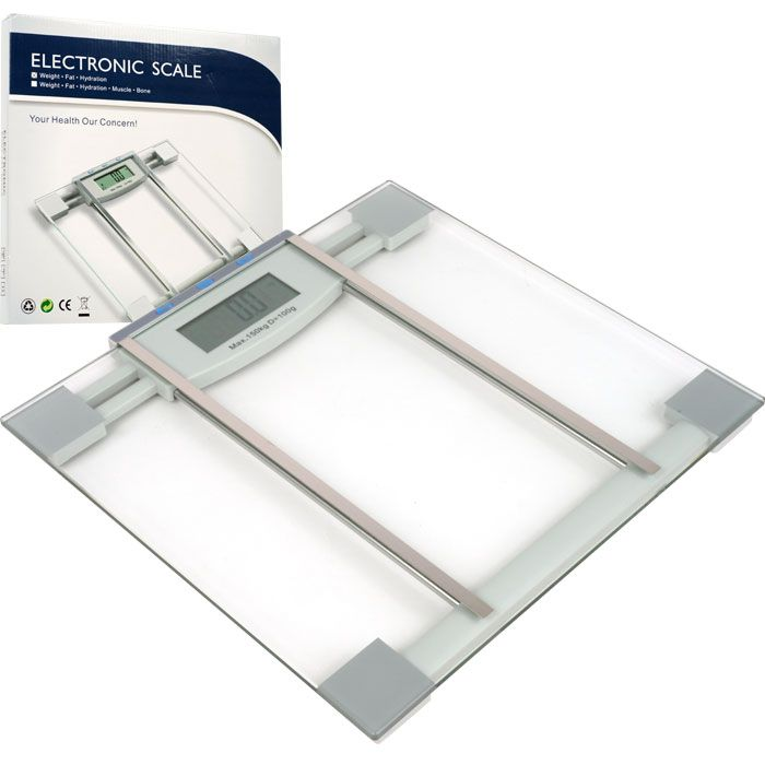 Trademark Digital Electronic Body Weight, Fat and Hydration Scale