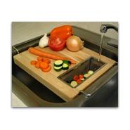 Trademark Chromed steel and wood oversink kitchen cutting board at Sears.com