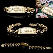 Trademark Poker Gold Link World Poker Champion Bracelet at Kmart.com