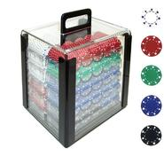 Trademark Poker 1000 11.5g SUITED Design Poker Chips in Acrylic Carrier at Kmart.com