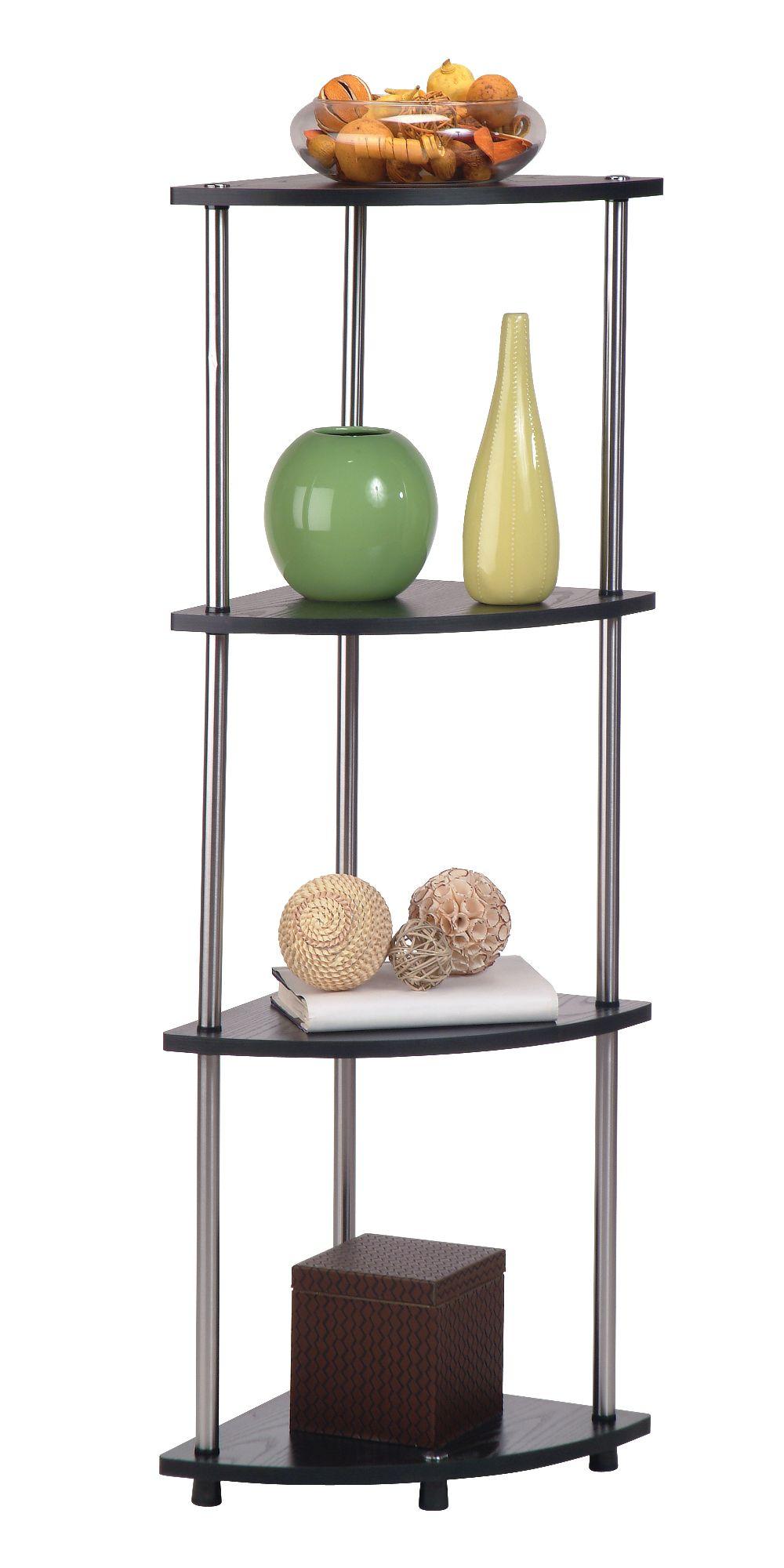 Designs2Go 4 Tier Corner Shelf by Convenience Concepts, Inc.