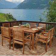 Amazonia Ibiza 9 Piece Eucalyptus Wood Square Patio Dining Set at Kmart.com