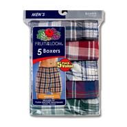 Fruit of the Loom Men's Plaid Boxers - Assorted 5-Pack at Sears.com
