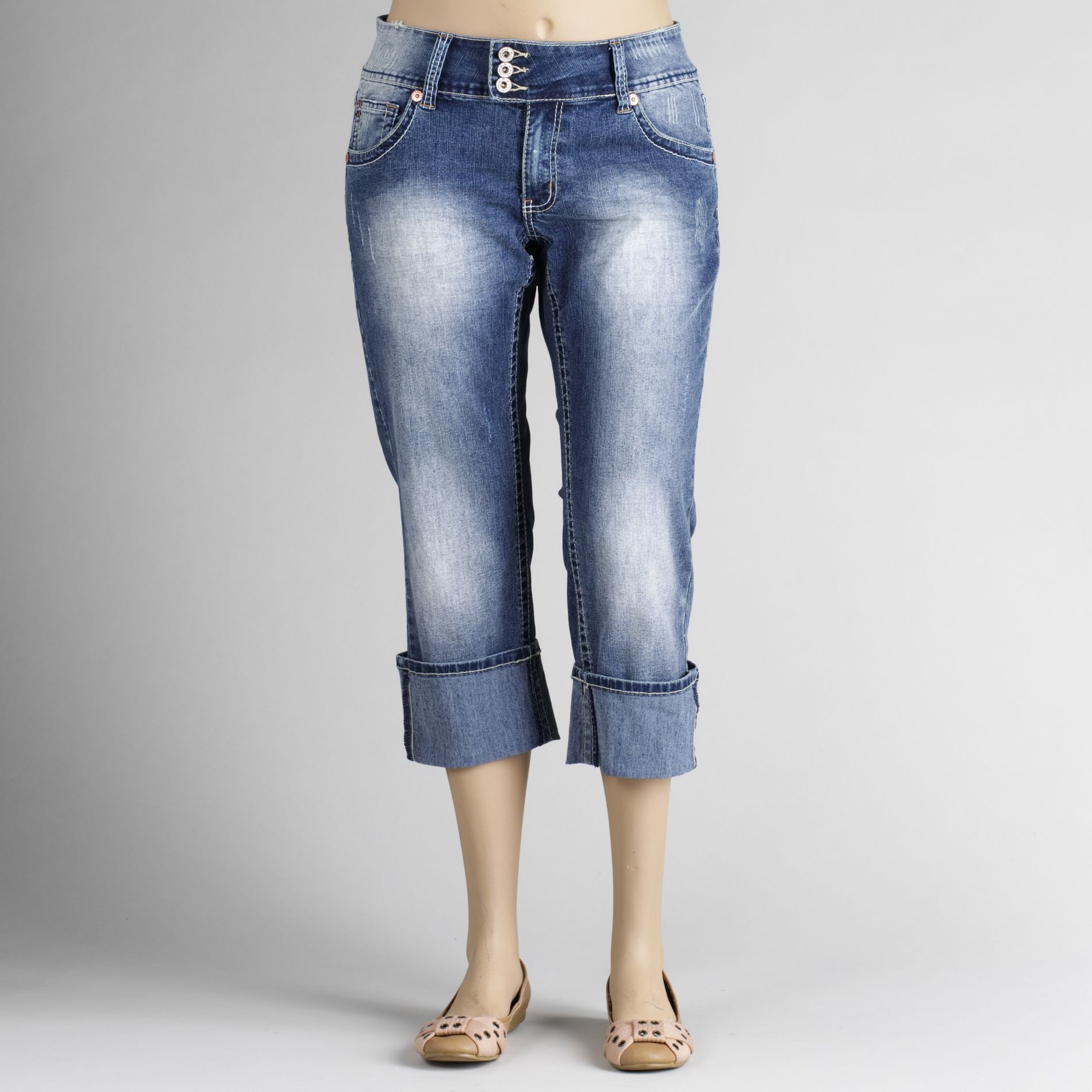 Angels Women's Plus Cuffed Flood Denim Capris at Kmart.com