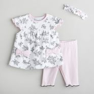 Little Wonders Newborn Girl's 3 Piece Pantset with Headband at Kmart.com