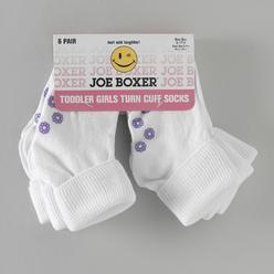 Joe Boxer Toddler Girl's 6 Pair Turn Cuff Socks at Kmart.com