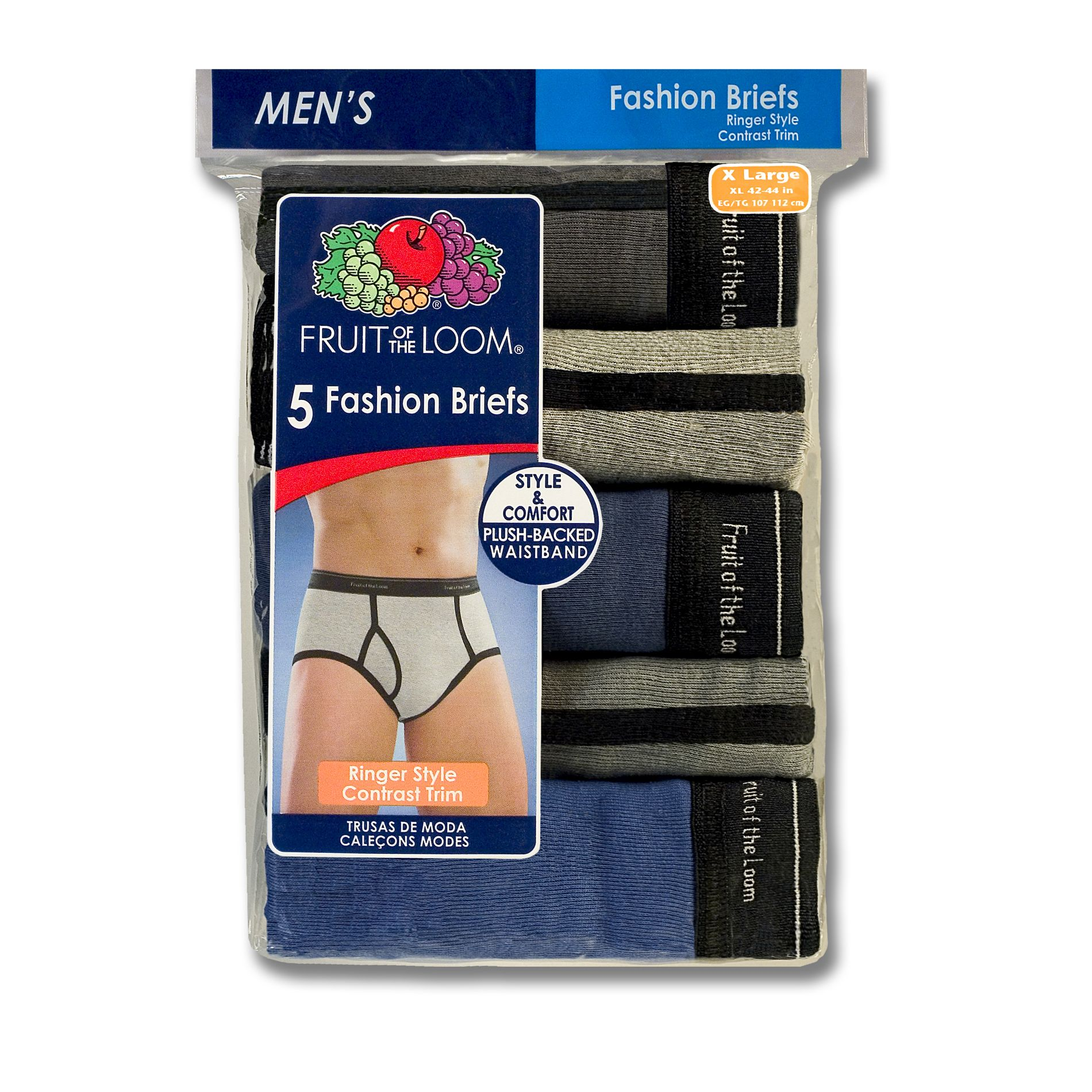 Men's Fashion Ringer Briefs - 5 Pk