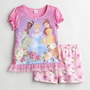 Disney Princess Girl's 4-8 2 Piece Sleep Set at Kmart.com