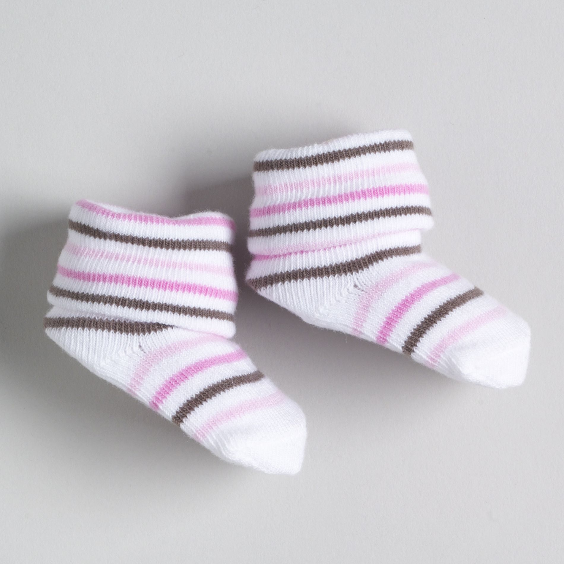 Newborn Girl's Striped Booties -Size 0-3 Months                                                                              at mygofer.com