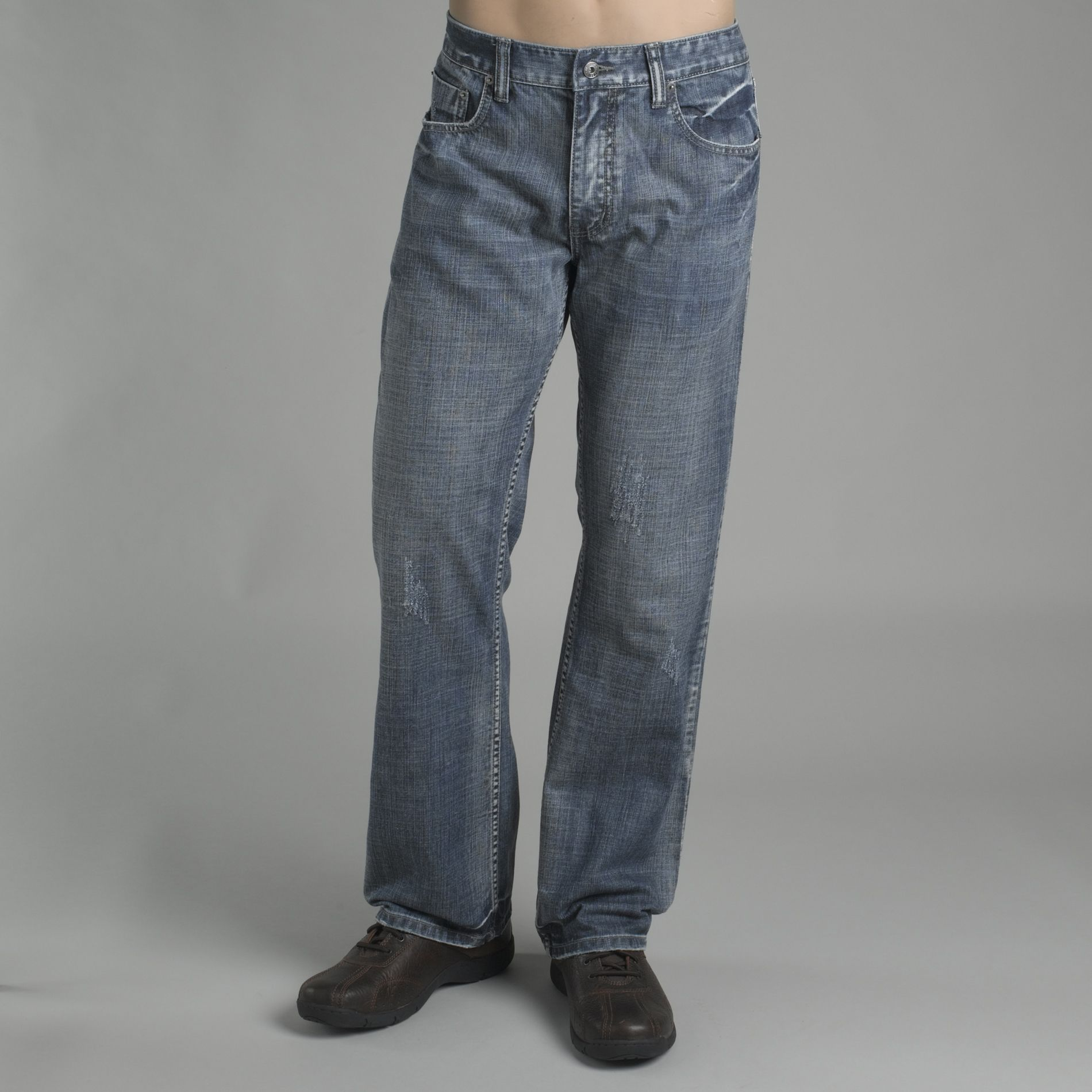 Route 66 Young Men's Distressed Slim Boot Jeans at Kmart.com