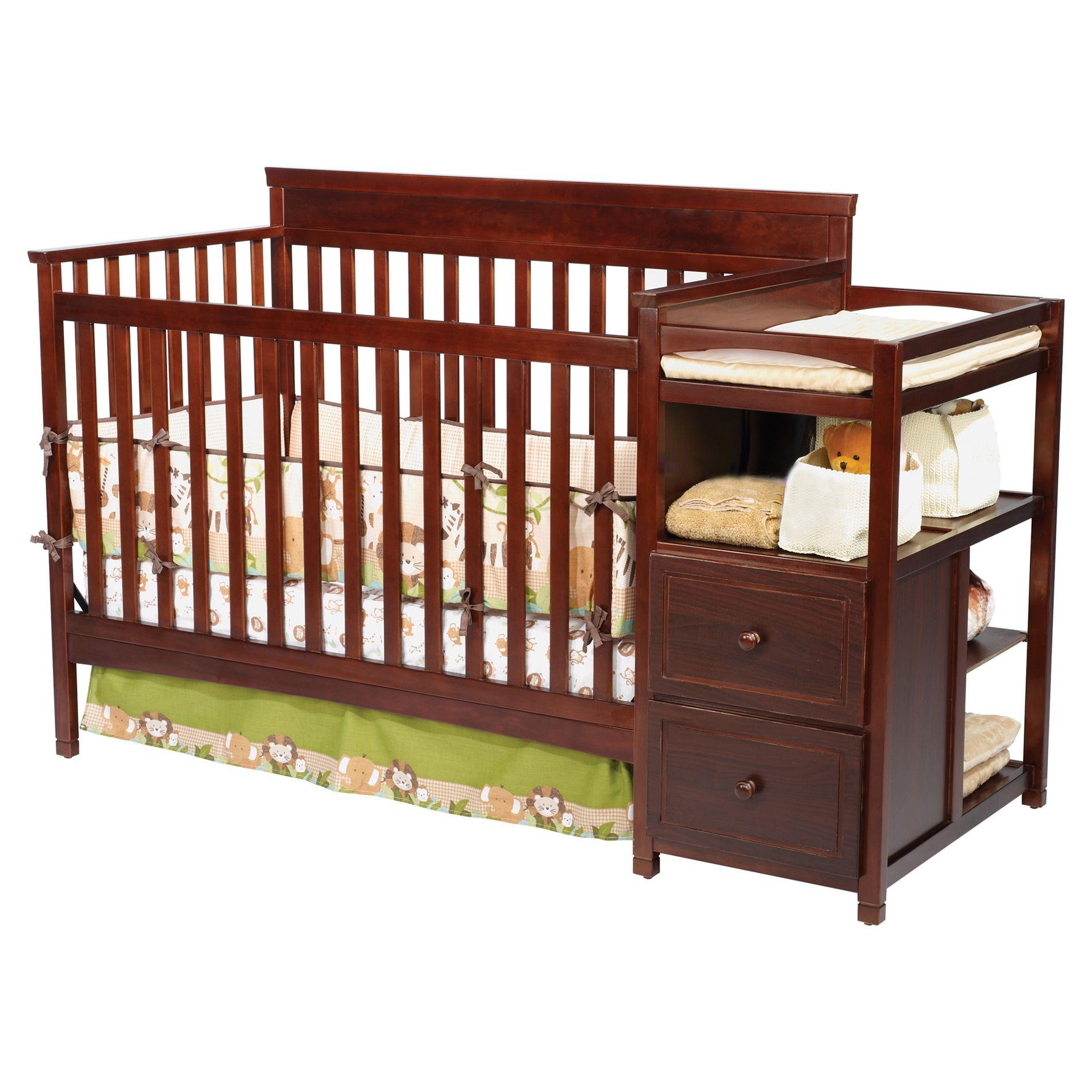 Delta Children Houston Crib N Changer Espresso Baby