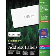 Avery Eco-friendly Labels, 1 x 2 5/8, White, 750/Pack at Kmart.com