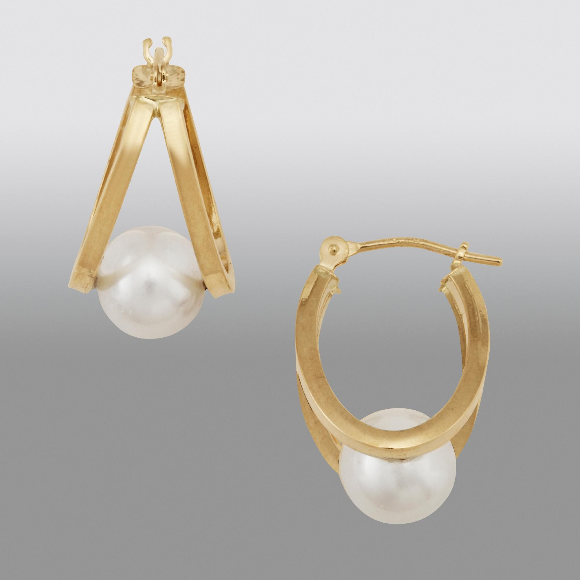 Fresh Water Cultured Pearl Earrings                                                                                              at mygofer.com