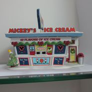 Disney Porcelain Lighted Mickey's Ice Cream Shop Decoration at Sears.com