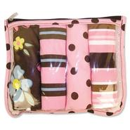 Trend-Lab Zip Pouch 4pk Burp - Blossoms at Sears.com
