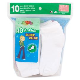 Fruit of the Loom Girls Ankle Crew Small Socks - 10 Pair at Kmart.com