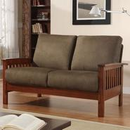 Oxford Creek Loveseat in Oak/Olive Finish at Kmart.com