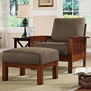 Oxford Creek Chair and Ottoman Set in Oak/Olive Finish at Sears.com