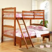 Oxford Creek Twin Full Bunk Bed in Mahogany at Kmart.com