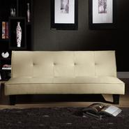 Oxford Creek Convertible Futon in Soft Beige Faux Leather at Kmart.com