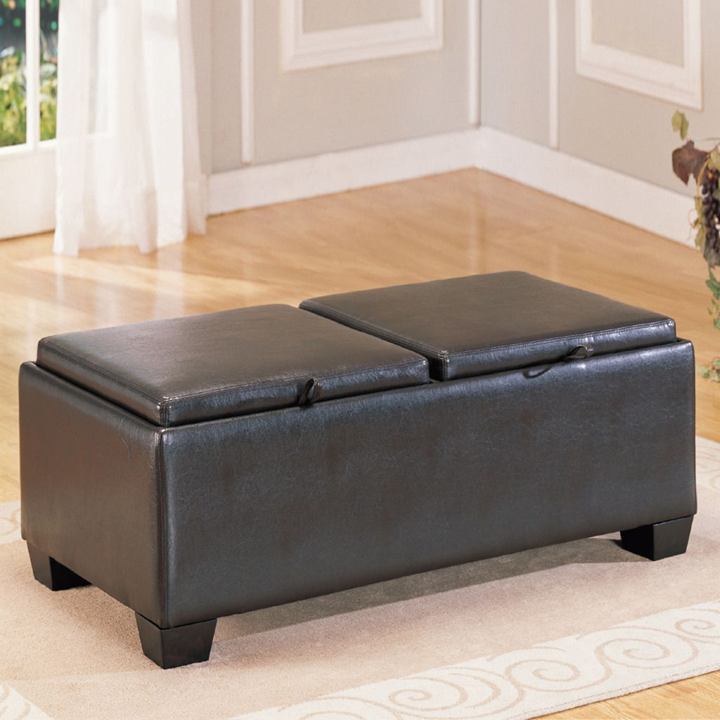 Oxford Creek  Storage Ottoman in Espresso