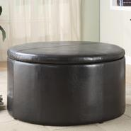 Oxford Creek Dark Brown Round Storage Cocktail Table with 2 Combination Ottomans at Kmart.com
