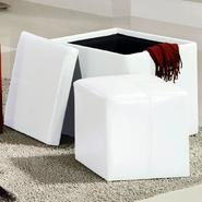 Oxford Creek Storage Cube Ottoman in White at Kmart.com