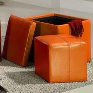 Oxford Creek Storage Cube Ottoman in Orange at Kmart.com