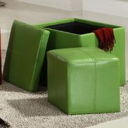 Oxford Creek Storage Cube Ottoman in Green at Kmart.com