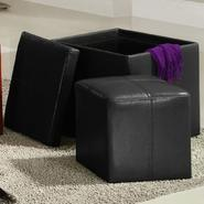 Oxford Creek Storage Cube Ottoman in Black at Kmart.com