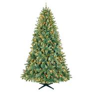 Country Living 7.5ft Lakeshore Blue/Green Slim Christmas Tree with 450 Clear Lights at Kmart.com