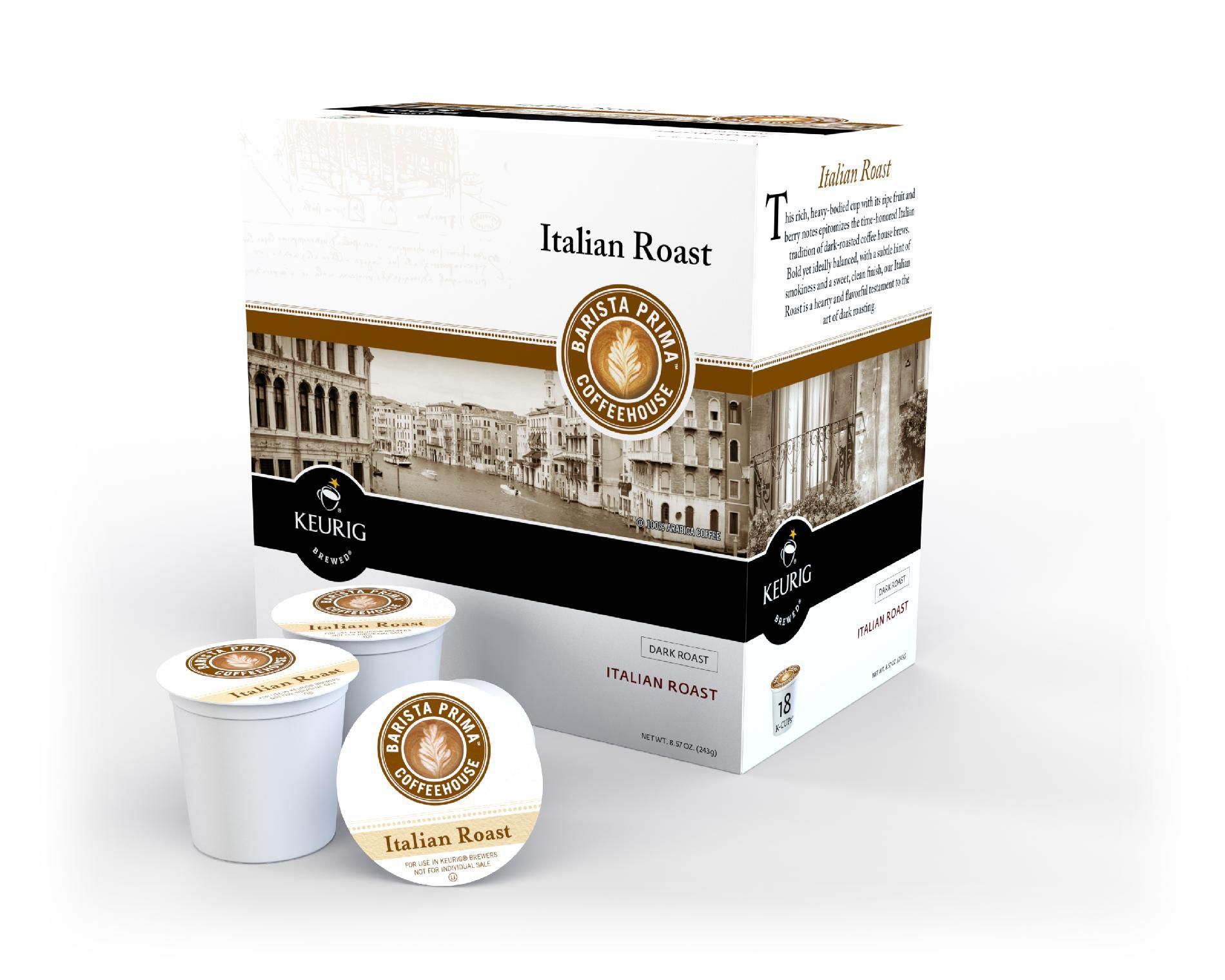 Italian Blend Coffee For Keurig K-Cup Brewing Systems, 108-pk