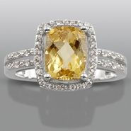 Citrine & Lab Created White Sapphire Ring at Sears.com