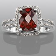 Garnet & Lab Created White Sapphire Ring at Sears.com
