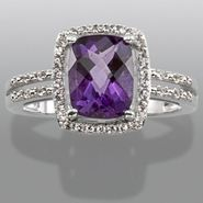 Sterling Silver Amethyst & Lab Created White Sapphire Ring at Sears.com