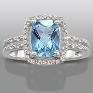 Blue Topaz & Lab Created White Sapphire Ring at Kmart.com