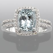 Aquamarine & Lab Created White Sapphire Ring at Sears.com